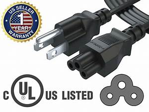 6ft Ac Power Cable Cord For Laptop Ac Adapter Charger Hp