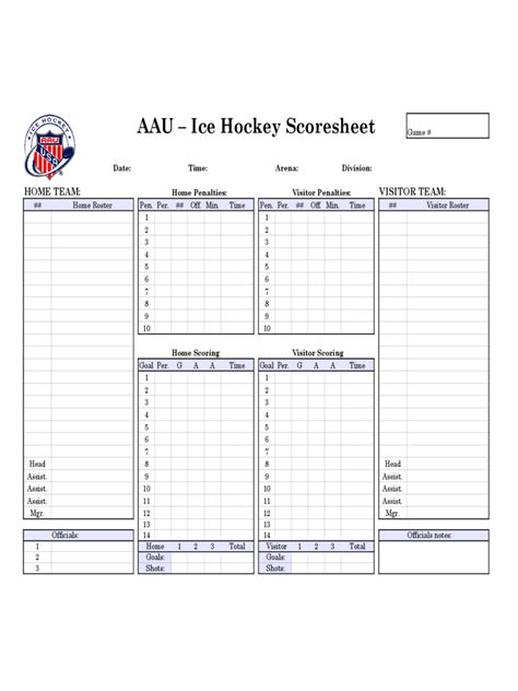 hockey score sheet   templates   word excel