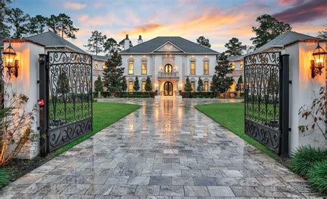 square foot french style mansion   woodlands texas homes   rich