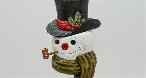 carving  snowman ornament woodcarving illustrated