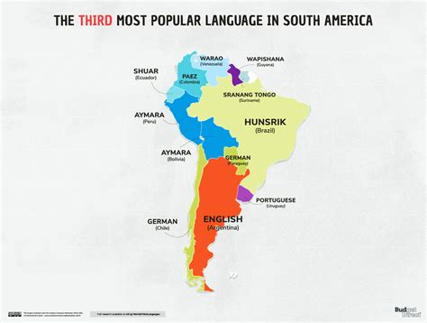 What Are The Third Most Popular Languages In Every Country