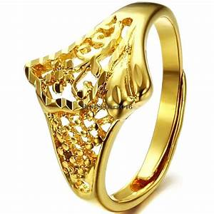 yellow gold tone ladies promise ring engagement wedding With adjustable gold wedding rings