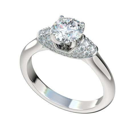 engagement ring with 0 28ctw pave collar chr1007 1 855 00 russian brilliants
