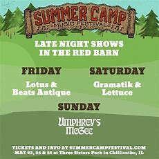 Summer Camp Music Festival Announces Late Night Shows