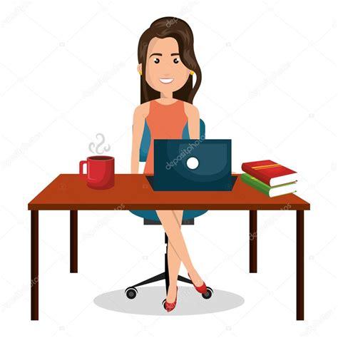 bureau de dessin dessin femme d affaires bureau travail bureau graphique