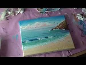 Strandbilder Auf Leinwand : malen mit acryl romantische k stenlandschaft teil 2 2 youtube ~ Watch28wear.com Haus und Dekorationen