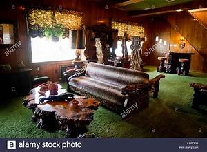 The Jungle Room Graceland, Memphis Tennessee Stock Photo