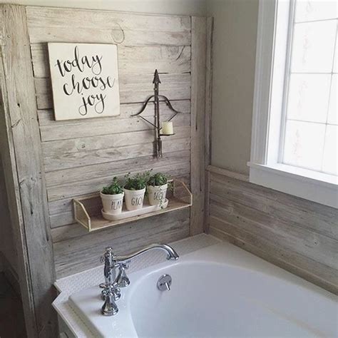 Shiplap For Bathroom Walls by Shiplap Wall In This Farmhouse Bathroom Diy Crafts And