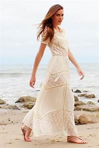 lace maxi dress would make a cute casual bohemian wedding With casual bohemian wedding dresses