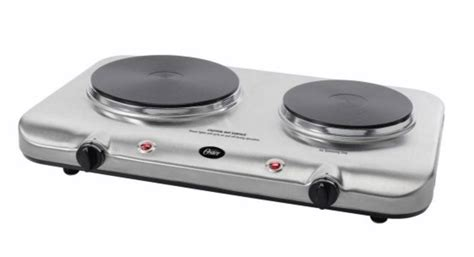 Electric Double Burner Hot Plate Stainless Cooktop Rv