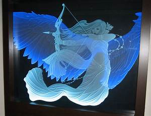 Illuminated, Carved, Glass, With, Custom, Art, U0026, Designs