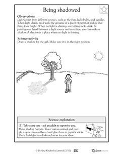 11 best images of earth shadow worksheet light and