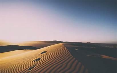 Desert Sand Dunes Clean 4k Sunset Skyline