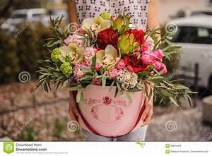 Beau Bouquet De Fleur : beau bouquet de fleur dans la bo te ronde avec le ~ Dallasstarsshop.com Idées de Décoration