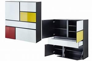 Buffet Haut Contemporain : buffet haut design thor cbc meubles ~ Teatrodelosmanantiales.com Idées de Décoration