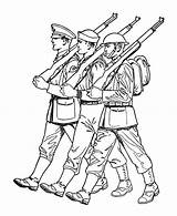 Coloring Soldier Forces Armed Parade British Army Drawing Soldiers Confederate Spitfire Draw Saluting Printable War Military Para Colorir Alone Clipart sketch template