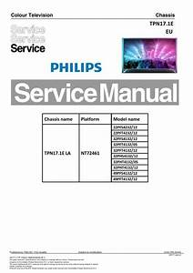 Philips 32pfs4132 32pft4132 32phs4132 32pht4132 Tv Service