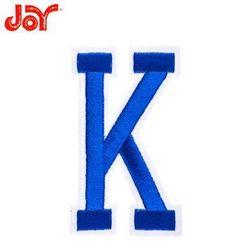 blue embroidered iron  letter   hobby lobby    iron  letters