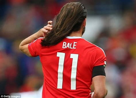 gareth bale shows   lengthy locks  wales draw