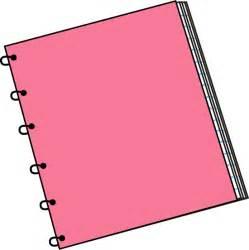 Pink Spiral Notebook Clip Art