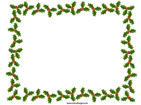 Cornice Natalizia Word Cornicetta Di Natale Con Agrifoglio Tutto Disegni