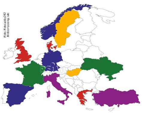 Zum Aufkleben by Europa Aufkleber Set Europa Karte Zum Aufkleben 46438