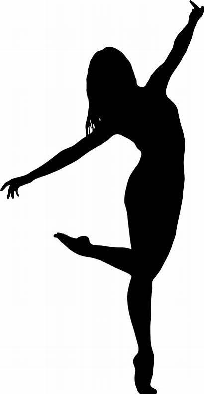 Silhouette Dancer Dance Clip Clipart Ballet Simple