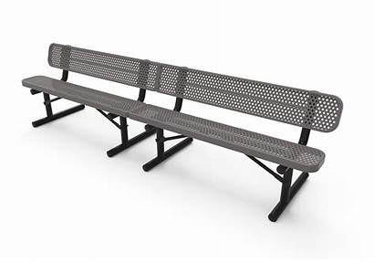 Bench Benches Thermoplastic Perforated Park Kay