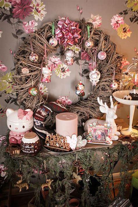 pretty christmas decor   kitty theme home