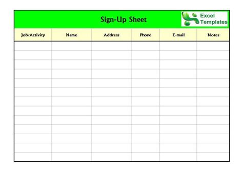 how to sign up for section 8 free sign in sign up sheet templates excel word
