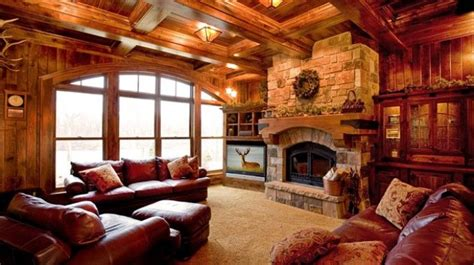 rathskeller retreat adirondack  lodge style basement
