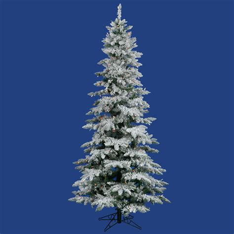 slim flocked utica fir tree vck3069
