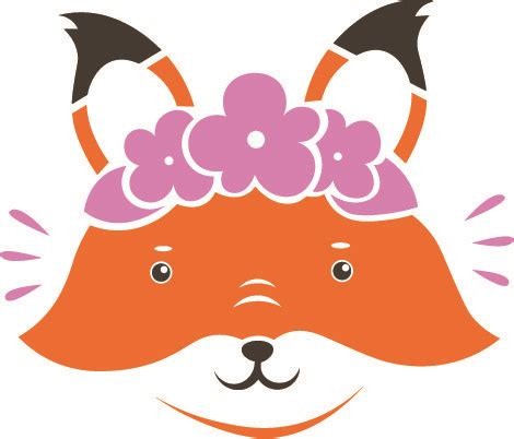 Create cool crafts using our editable svg cutting files & png images! Free Girly Fox SVG Cut File | Craftables