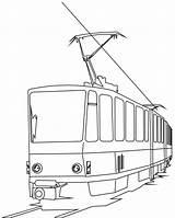 Coloring Train Tramway Tram Electric Cartoon Passenger Bridge Transports Children Transport Chart Colorare Colorear Dessin Coloriage Immagini Printables Dibujo sketch template