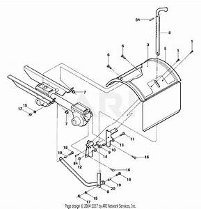 Troy Bilt 12210 6 5 Hp Super Bronco Parts Diagram For Tine Hood  Depth Regulator And Drag Bar