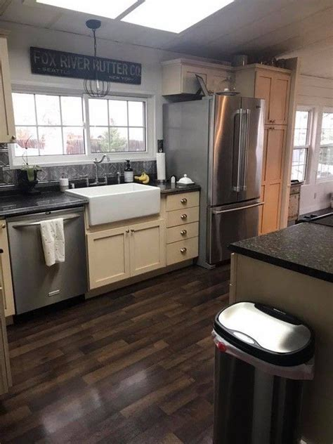 double wide manufactured home remodel  farmhouse