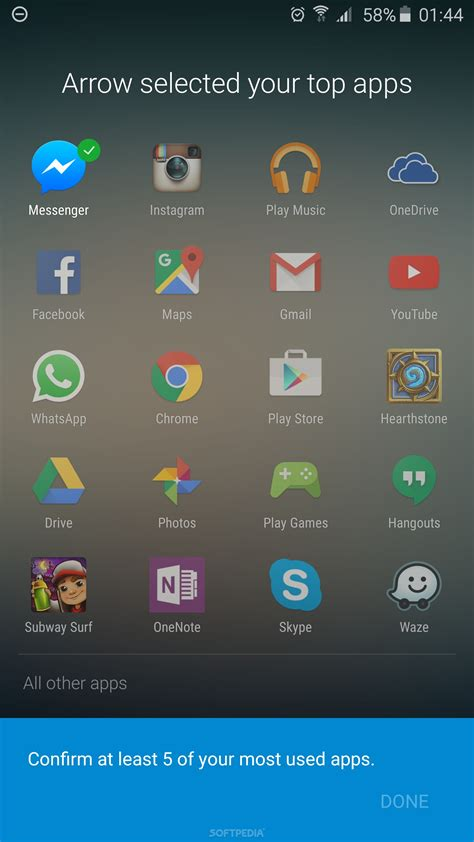 microsoft updates arrow launcher with more material design