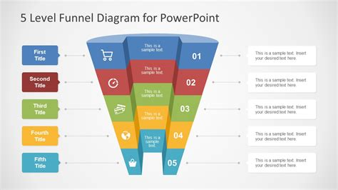 level funnel diagram concept  powerpoint slidemodel