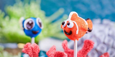 disneyland  selling adorable finding nemo cake pops