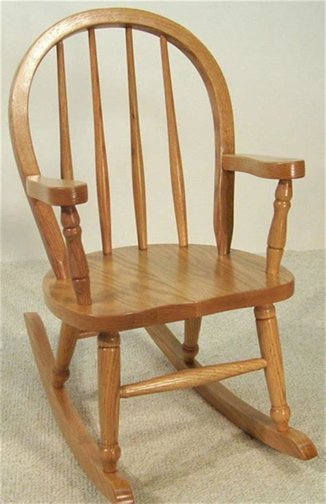 amish furniture rocking chair oak bow