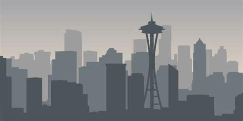 seattle city skyline vector vector architecture