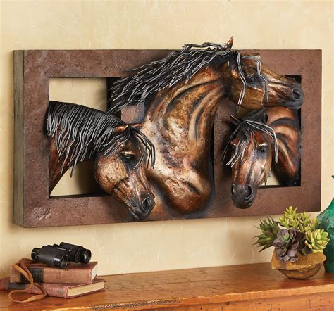 sweet freedom   horse wall sculpture