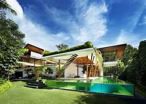 Maison Verte Larchitecture Ouverte Et Are Singapour