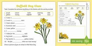New   Daffodil Day Cloze Worksheet