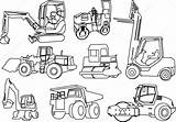 Construction Coloring Pages Printable Depositphotos Machines Credit Larger sketch template