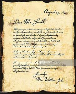 old fashioned letter correspondence design template vector With old fashioned letter writing