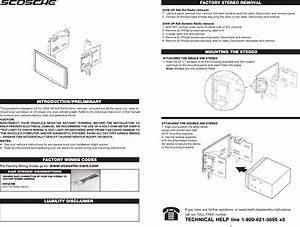 Scosche Wiring Harnes Instruction