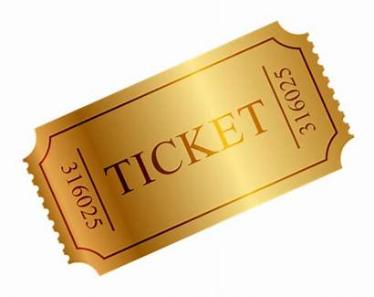 Ticket Transparent Golden Special Clipart Raffle Guest