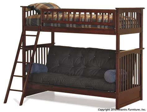 futon bunk bed atlantic furniture columbia futon bunk bed