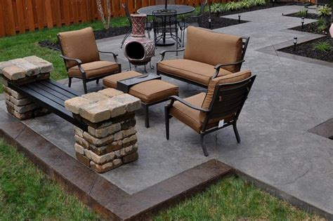 cost to remove concrete patio decor back yard concrete designs patio ideas simple